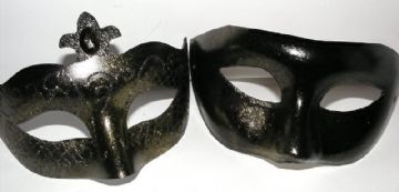 His & Hers Masks Gold lustre